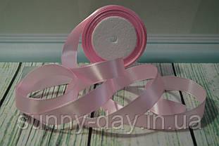 Стрічка атласна, 20мм (22метра), колір - світло рожевий