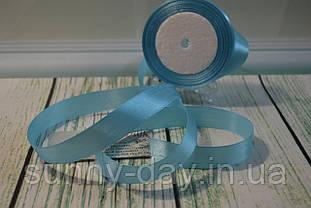 Лента атласная, 20мм (22метра), цвет - светло голубой