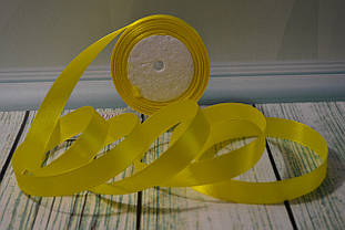 Стрічка атласна, 20мм (22метра), колір - жовтий