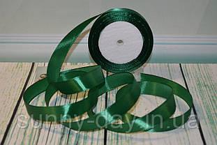 Стрічка атласна, 20мм (22метра), колір - темно-зелений