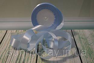 Стрічка атласна, 20мм (22метра), колір - небесно блакитний
