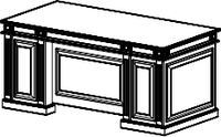 Стол руководителя Классик 22/101 L2 (2000х900х790)