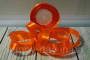 Стрічка атласна, 20мм (22метра), колір - насичений помаранчевий