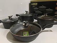 Набор посуды из 8 предметов Benson Elite  BN 333 Black