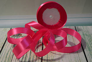 Лента атласная, 20мм (22метра), цвет - розовый