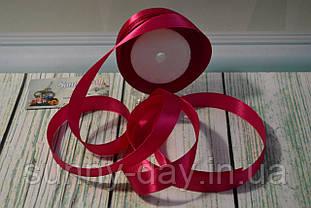 Стрічка атласна, 20мм (22метра), колір - малиновий