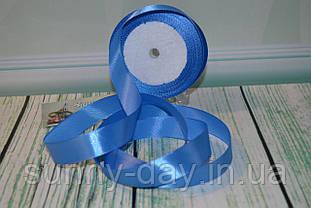 Лента атласная, 20мм (22метра), цвет - небесный синий