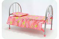 Кроватка для кукол металлическая 9342