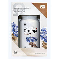 Fitness Authority Omega 3-6-9 120 soft gels.Льняное масло в мягких гелевых капсулах, которое является наиболее