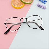 Имидж очки панто прозрачные круглые для имиджа в черной оправе