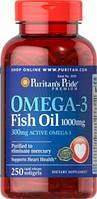 Puritan's Pride Omega 3 (1000 мг) 100 софтгель.Очень экономный препарат среди всех Омег, с большим содержанием