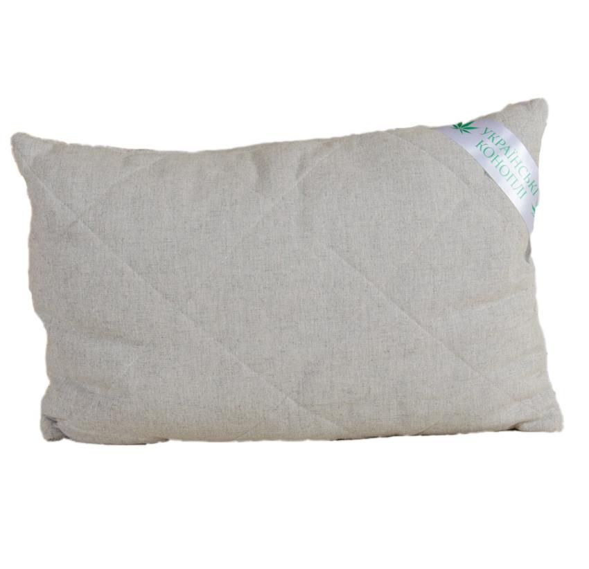 Подушка гипоаллергенная с конопляным наполнителем KonopliUA Бежевый (1-035)