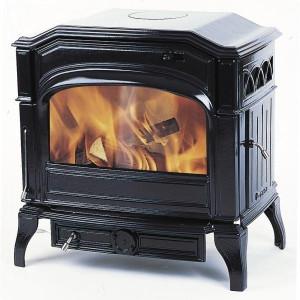 Печь камин чугунная (мультипечь) DOVRE 750 GM глянцевая черная
