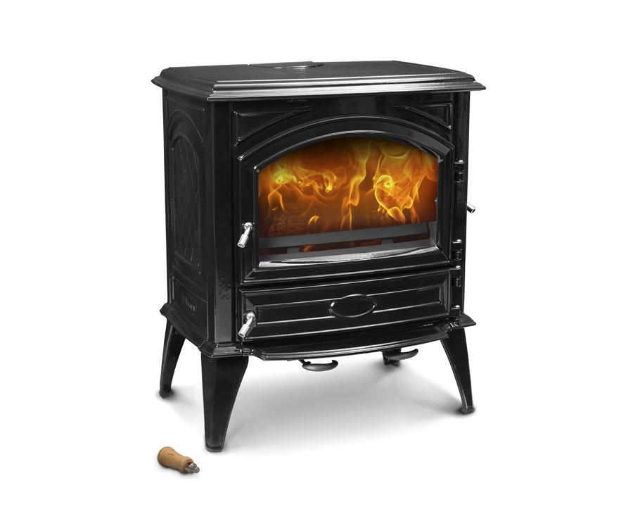 Печь камин чугунная DOVRE 640 CB глянцевая черная