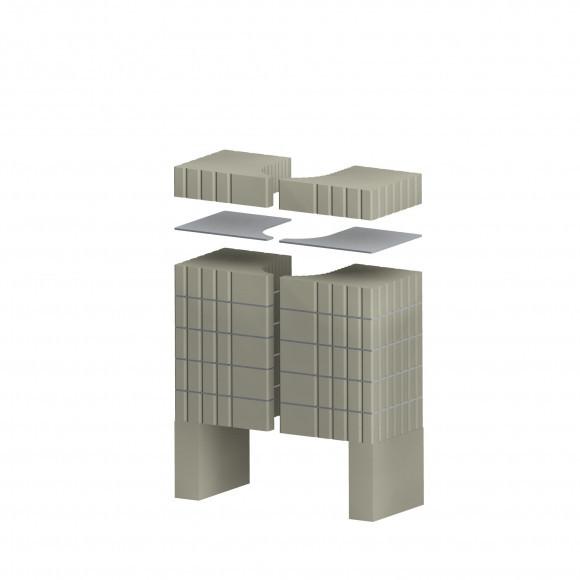 Аккумуляционный комплект для каминных топок ROMOTOP Cara C, Cara R/L