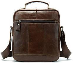 Сумка через плечо мужская гладкая Vintage 14700 Коричневая, фото 2