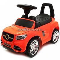 Машинка-каталка толокар MasterPlay Оранжевая 2-002, свет, звук. Транспорт для детей