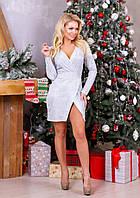"""Платье женское диско на запах, размеры 42-48 """"BONJOUR"""" купить недорого от прямого поставщика, фото 1"""