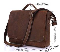 Портфель Vintage 14092 в винтажном стиле Коричневый, фото 2