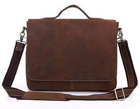 Портфель Vintage 14092 в винтажном стиле Коричневый, фото 3