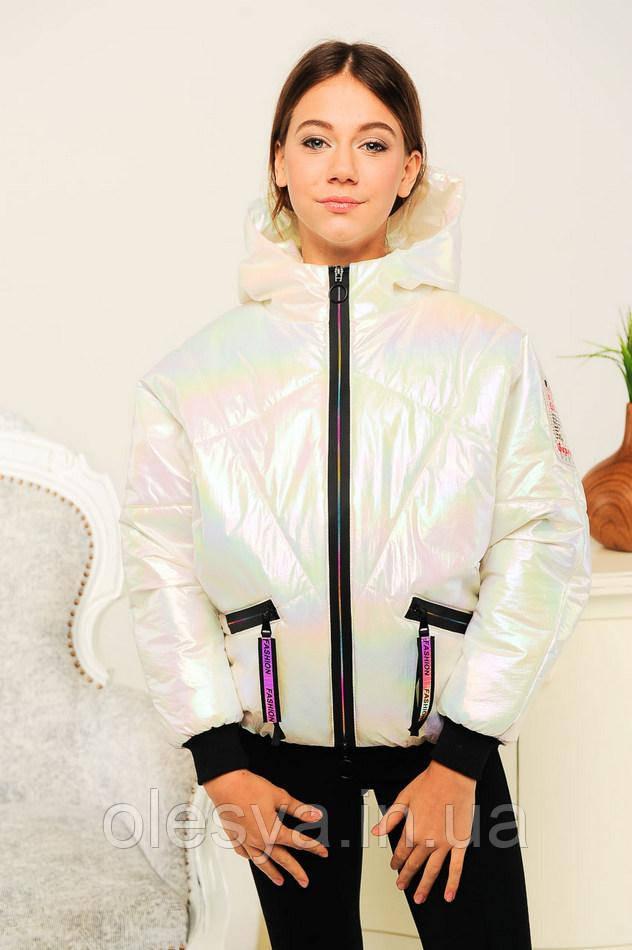 Куртка весенняя для девочки Селена, цвет белый Размеры 134