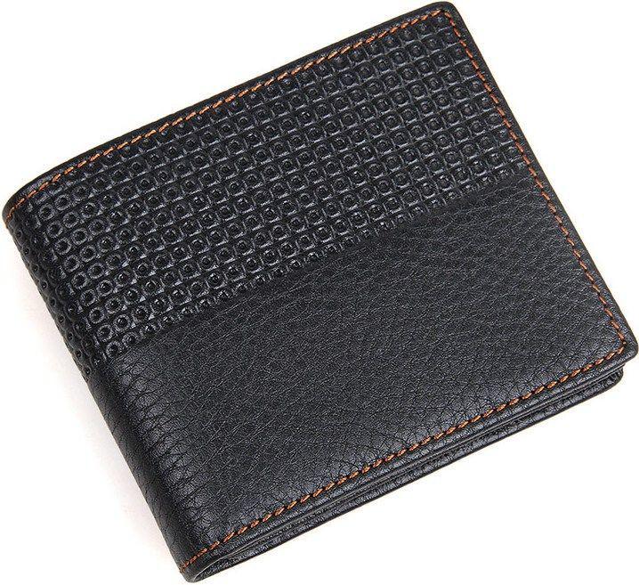 Кошелек мужской Vintage 14452 кожаный Черный