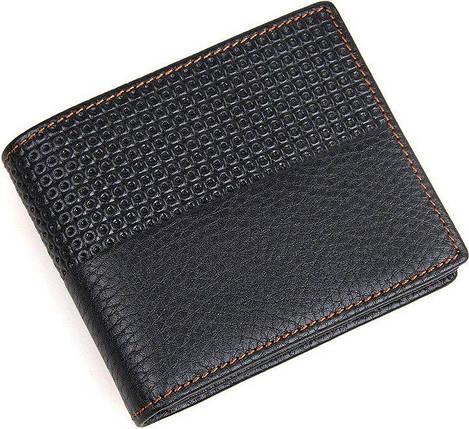 Кошелек мужской Vintage 14452 кожаный Черный, фото 2