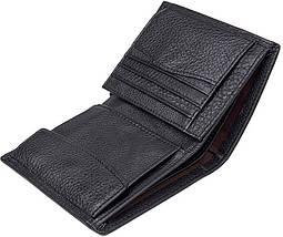 Кошелек Vintage 14598 кожаный Черный, фото 3