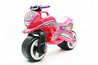 Мотоцикл-толокар «kinderway» 11-06 розовый, фото 1