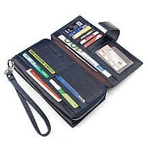 Мужской кошелек ST Leather 18454 (ST128) кожа Синий, фото 2