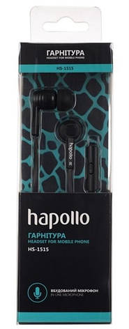 Гарнитура Hapollo HS-1515 Black, фото 2