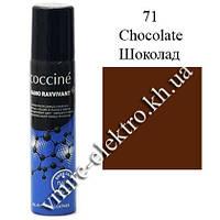 Краска спрей для замши, нубука, велюра Шоколад Coccine RAVIVANT NANO 100 мл (Уценка!)