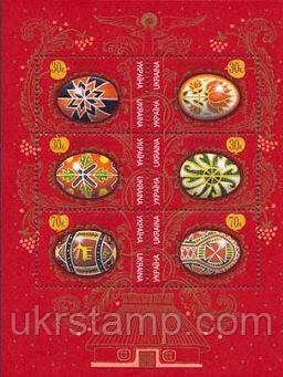 Пасха, М/Л из 6м; 30 коп x 4, 70 коп x 2 28.04.2000