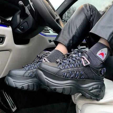 Женские кроссовки в стиле Buffalo London Black, фото 2