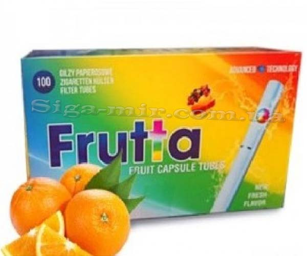 Сигаретные Гильзы с капсулой Frutta Orange (Апельсин) 100 шт