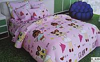 Комплект постельного белья подростковый  Лол Розовый
