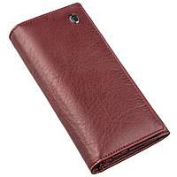 Женский кошелек на кнопке ST Leather 18855 Темно красный