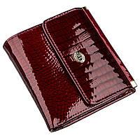 Стильный женский кошелек на кнопке ST Leather 18912 Бордовый
