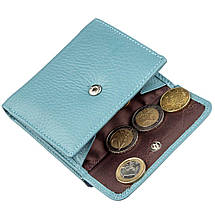 Небольшое женское портмоне ST Leather 18915 Голубой, фото 3