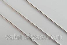 Серебряная цепочка - плетение Снейк