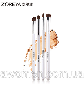 Набор кистей Zoreya 4 штук Makeup Brush (белые)