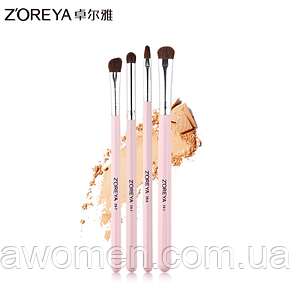 Набор кистей Zoreya 4 штук Makeup Brush (розовые)