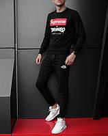 Мужской спортивный костюм, чоловічий костюм Supreme Thrasher (черный), Реплика