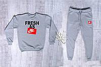 Мужской спортивный костюм, чоловічий костюм Nike (серый), Реплика