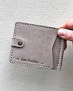 Кожаный зажим для денег Zosh женский Серый