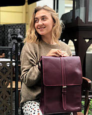 Кожаный рюкзак Backy Коричневый, фото 2