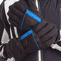 Перчатки горнолыжные теплые мужские (СКИДКА НА ЧЕРНО-СИНИЕ р.XL-L) A3320 OF Черно-голубой