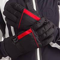 Перчатки горнолыжные теплые мужские (СКИДКА НА ЧЕРНО-СИНИЕ р.XL-L) A3320 OF Черно-красный