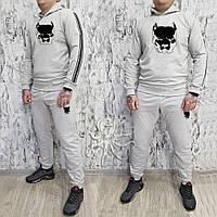 Мужской спортивный костюм, чоловічий костюм (Худи+штаны) Pitbull S353, Реплика