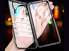 Металлический магнитный чехол для iPhone XS  Черный